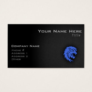 Royal Blue Leo Business Card