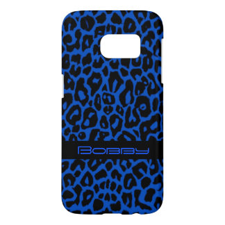 Royal Blue Leopard Animal Print Galaxy S7 Case