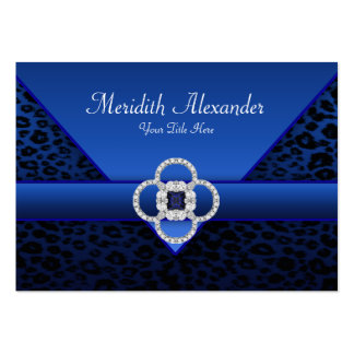 Royal Blue Leopard Business Cards Pack Of Chubby Business Cards