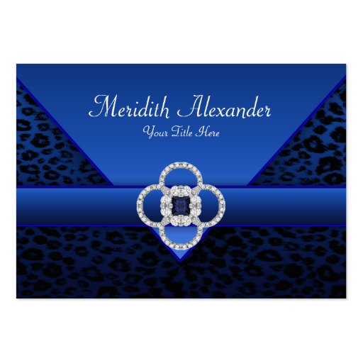 Royal Blue Leopard Business Cards