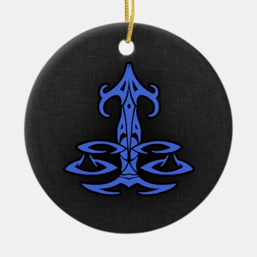 Royal Blue Libra Christmas Tree Ornaments