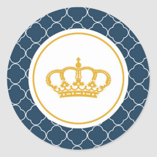 Royal Blue Little Prince Crown Sticker