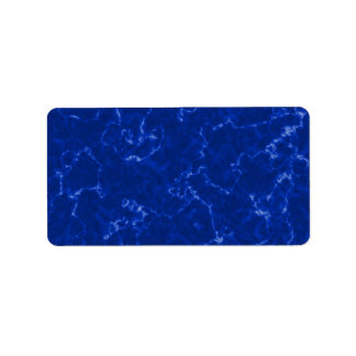 Royal Blue Marble with White Veins Address Label