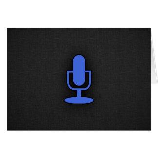 Royal Blue Microphone Card