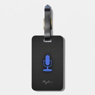 Royal Blue Microphone Luggage Tag