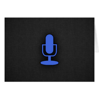 Royal Blue Microphone Note Card