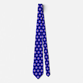 Royal Blue Morning Glory Pretty Floral Pattern Tie