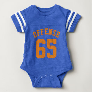 Royal Blue & Orange Baby | Sports Jersey Design Baby Bodysuit