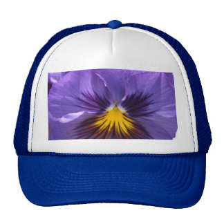 Royal Blue Pansy Cap