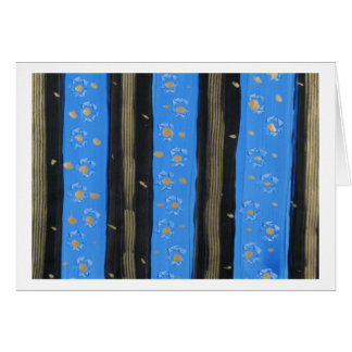 Royal Blue Petals Card