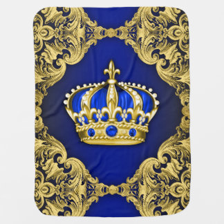 Royal Blue Prince Baby Blanket