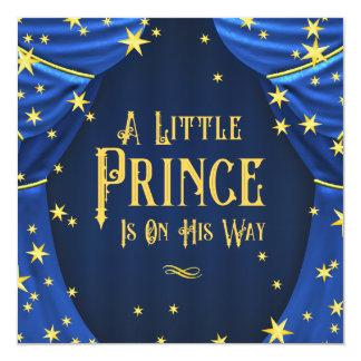Royal Blue Prince Boy Baby Shower Invitation
