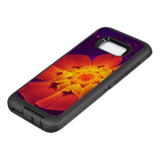 Royal Blue, Red, and Yellow Fractal Gerbera Daisy OtterBox Defender Samsung Galaxy S8+ Case