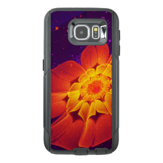 Royal Blue, Red, and Yellow Fractal Gerbera Daisy OtterBox Samsung Galaxy S6 Case