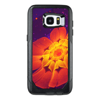 Royal Blue, Red, and Yellow Fractal Gerbera Daisy OtterBox Samsung Galaxy S7 Edge Case