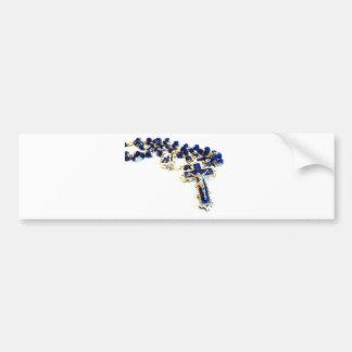 Royal Blue Rosary Bumper Sticker