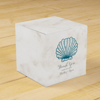 Royal Blue Rustic Seashell Wedding Favour Boxes