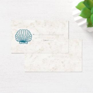 Royal Blue Rustic Seashell Wedding Place Cards