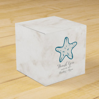 Royal Blue Rustic Starfish Wedding Favour Box