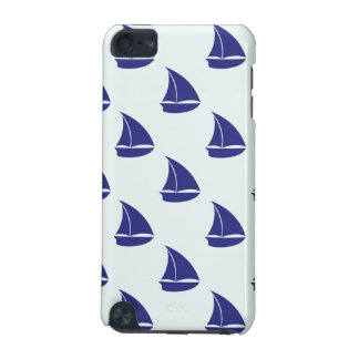 Royal Blue Sailboat Pattern iPod Touch (5th Generation) Covers