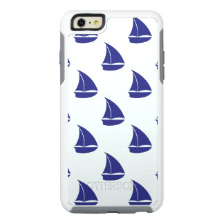 Royal Blue Sailboat Pattern OtterBox iPhone 6/6s Plus Case
