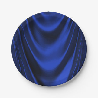 Royal Blue Satin Paper Plate