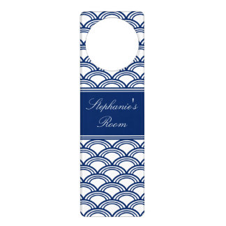Royal Blue Seigaiha Pattern Door Hanger