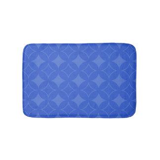 Royal blue shippo pattern bath mat