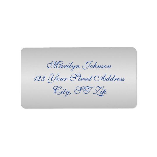 Royal Blue, Silver Return Address Labels 3
