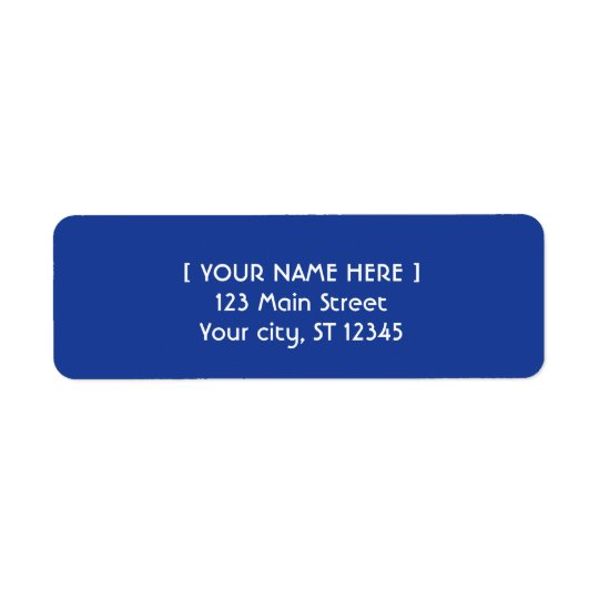 Royal Blue simple elegant Return Address Label