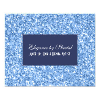 Royal Blue & Sky Blue Glitter Texture 11.5 Cm X 14 Cm Flyer