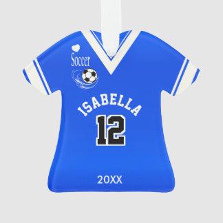 Royal Blue Soccer Shirt Ornament
