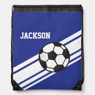 Royal Blue Soccer Stripes Backpack