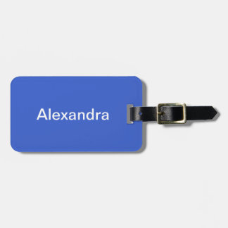 Royal Blue Solid Color Luggage Tag