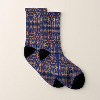 Royal Blue Southwest Tribal Pattern Socks
