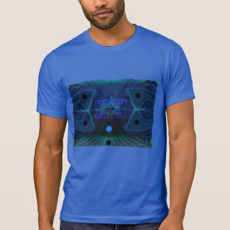 Royal Blue T-Shirt w. Digital 'Spaceship Interior'