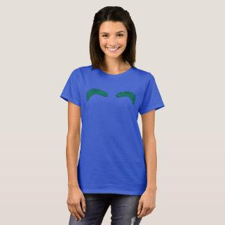 Royal blue W + green T-Shirt