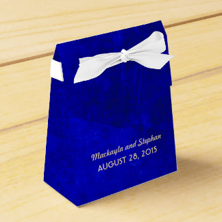 royal blue wedding favour box