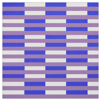 Royal blue & white stipe PNG on zazzle purple Fabric