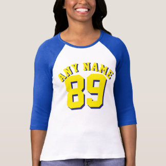 Royal Blue White & Yellow Adults | Sports Jersey T-Shirt