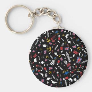 Royal Britain Basic Round Button Key Ring