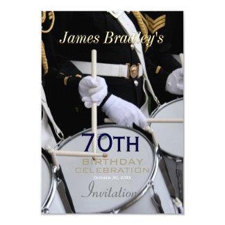 Royal British Band 70th Birthday Celebration 9 Cm X 13 Cm Invitation Card