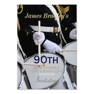 Royal British Band 90th Birthday Celebration 9 Cm X 13 Cm Invitation Card