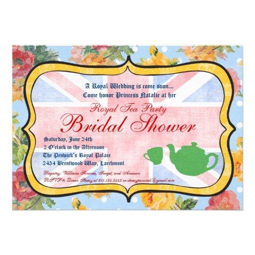 Royal British Bridal Shower Invitation