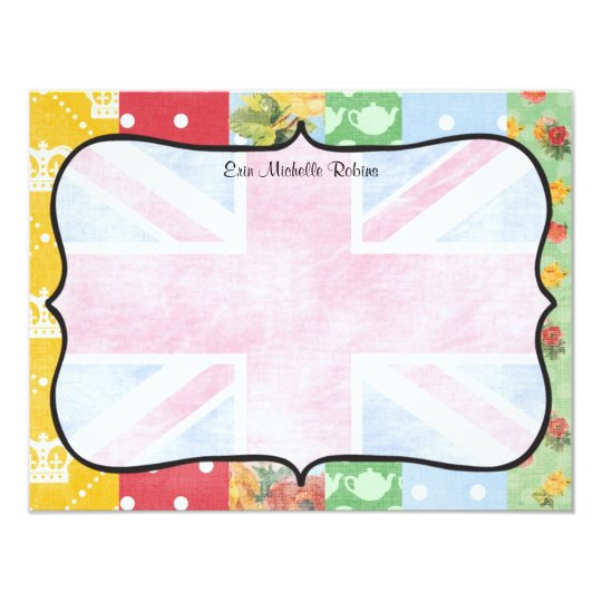 Royal British Personalised Flat Note Cards