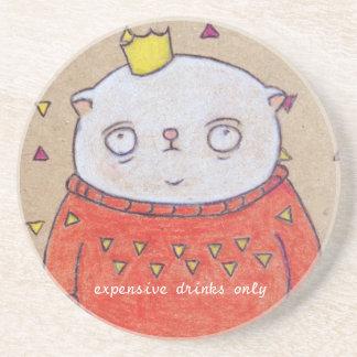 royal cat king pin beverage coasters