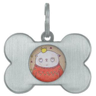 royal cat king pin pet tag