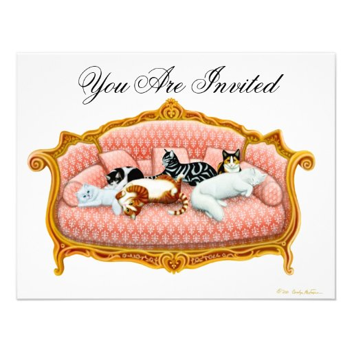 Royal Cat Nap Invitation
