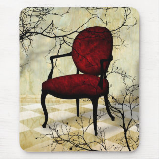 Royal Chair with Branches Mouse Pad