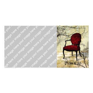 Royal Chair with Branches Photo Greeting Card